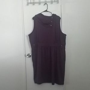 Modcloth, 4X, Eggplant Purple Cowl neck dress